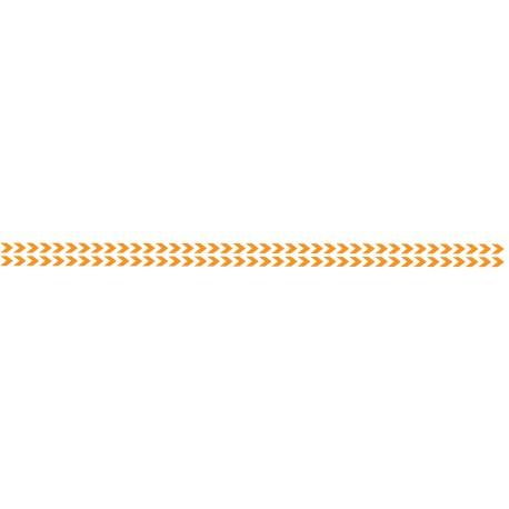 Bandes adhésives pour repérage des portes vitrées 52 mm - Double chevrons orange
