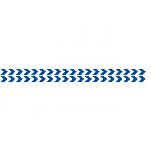Bandes Adhésives Repérage Des Portes Vitrées - Double Chevrons Bleus