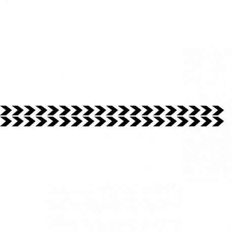 Bandes adhésives pour repérage des portes vitrées 100 mm - Double chevrons noir