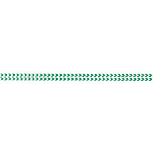 Bandes Adhésives Repérage Des Portes Vitrées - Double Chevrons Verts