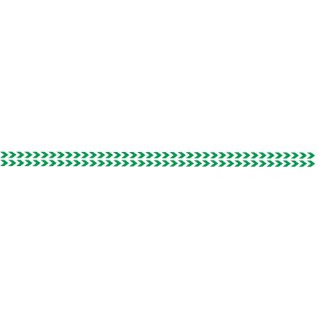 Bandes adhésives pour repérage des portes vitrées 52 mm - Double chevrons vert