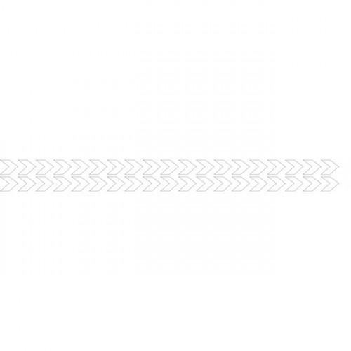 Bandes adhésives repérage des portes vitrées - Double chevrons blancs