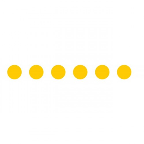 Bandes adhésives repérage des portes vitrées - Ronds jaunes