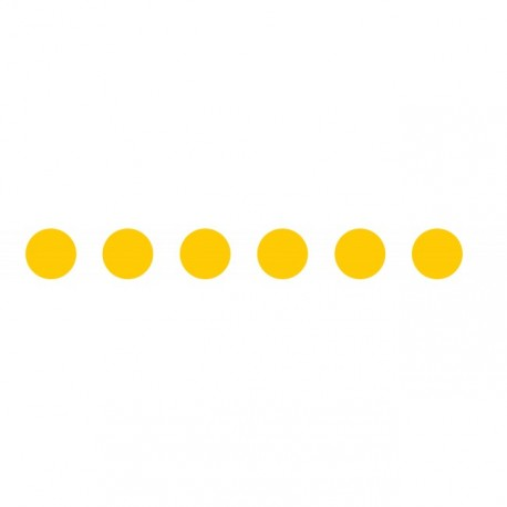 Bandes adhésives pour repérage des portes vitrées 100 mm - Ronds jaune