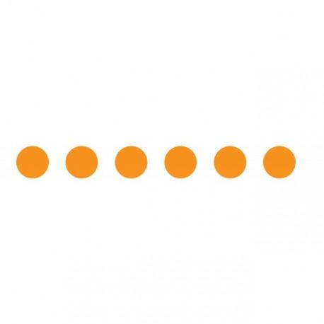 Bandes adhésives pour repérage des portes vitrées 100 mm - Ronds orange