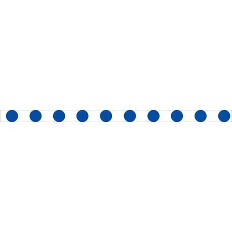Bandes adhésives pour repérage des portes vitrées 52 mm - Ronds bleu
