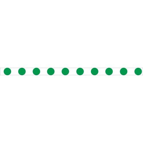 Bandes adhésives repérage des portes vitrées - Ronds verts