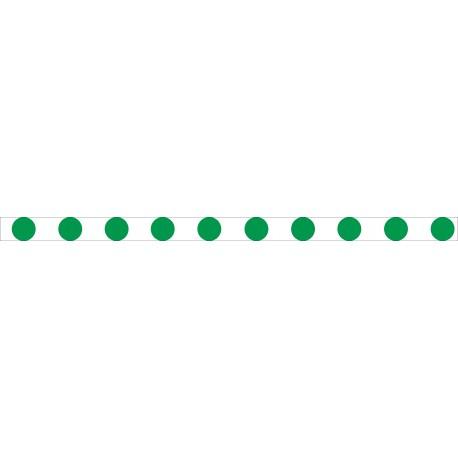 Bandes adhésives pour repérage des portes vitrées 52 mm - Ronds vert