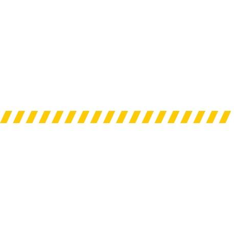 Bandes adhésives pour repérage des portes vitrées 52 mm - Hachures jaune
